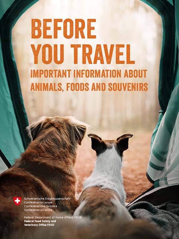Before you travel - important information about animals